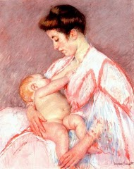 Painting by Mary Cassatt, 1844-1926. (public domain) Image from Wikimedia Commons.